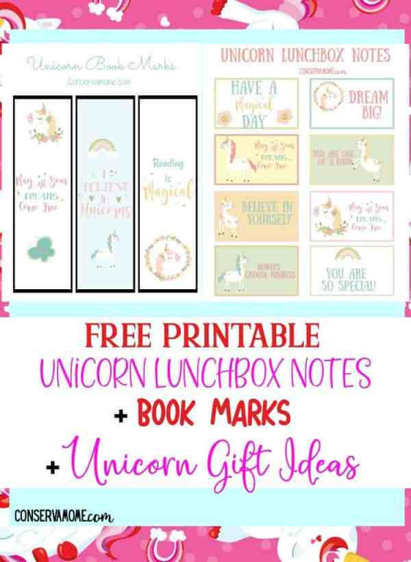 printable unicorn bookmarks # 70
