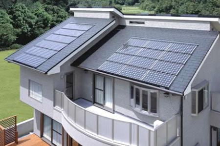 How Solar Electricity is Produced From Solar Energy Using Solar Panels  solar panels installed home