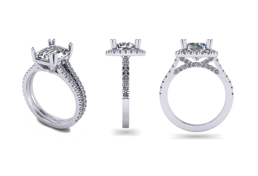 Custom Engagement Ring Design Contempo Jewelers Jewelry Store