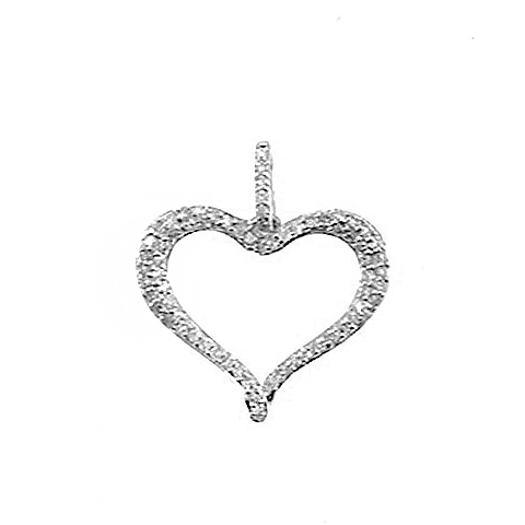 14KT WHITE GOLD OPEN HEART DIAMOND PENDANT-AR2308-001