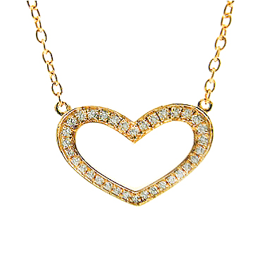 14KT WHITE GOLD DIAMOND HEART PENDANT ON 18″ CHAIN-VN018667-001