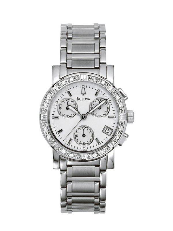 Women's Bulova Diamond Chronograph Watch 96R19