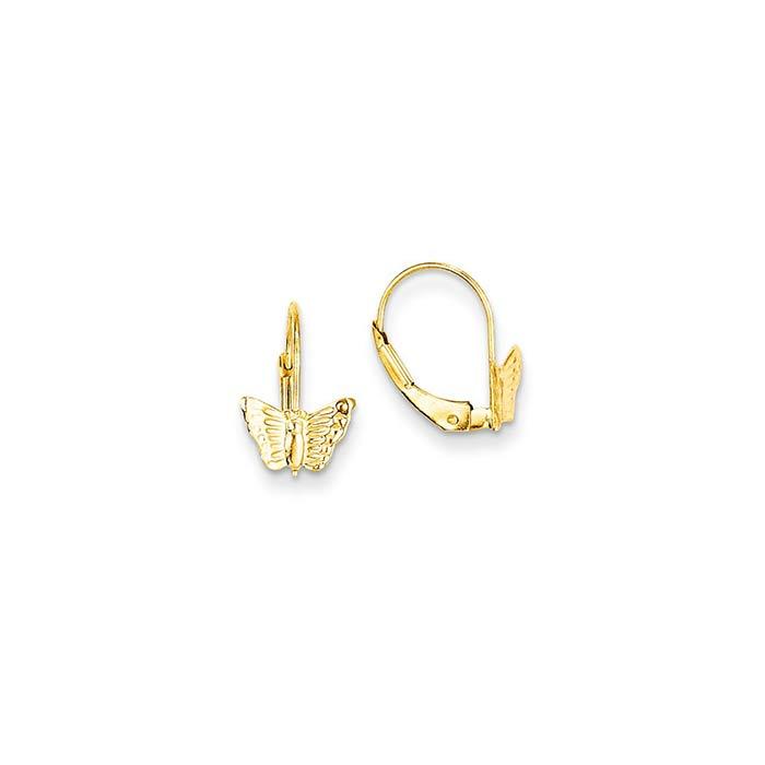 Butterfly kids leverback earrings long island ny kids for Baby jewelry near me