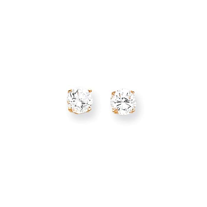 childrens white gold earrings white gold cubic zirconia earring island ny 1392