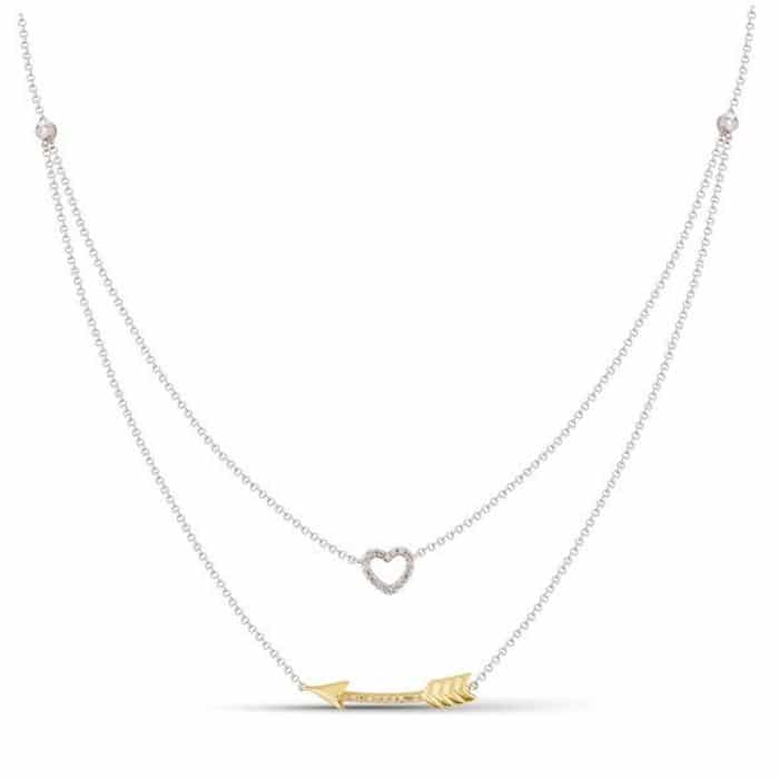 Luvente Necklace N02187-RD-W