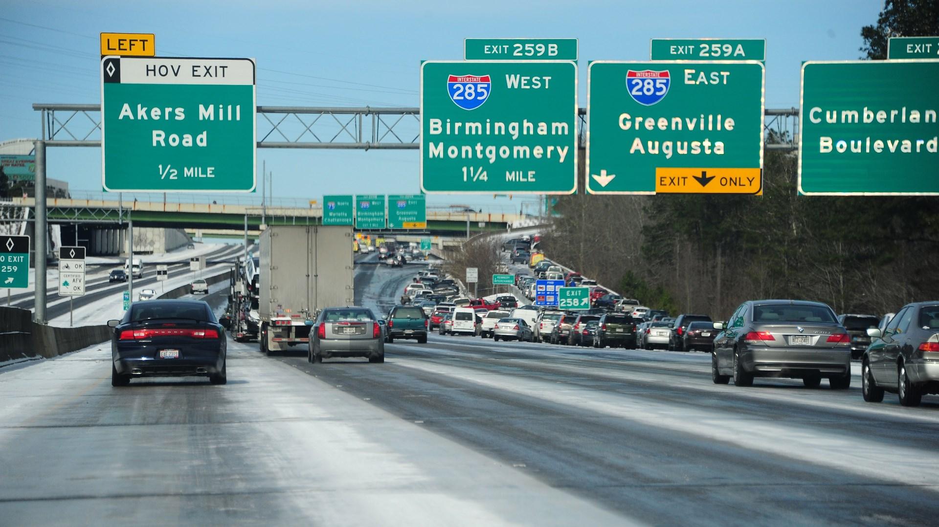 Ice Storm Atlanta Highways