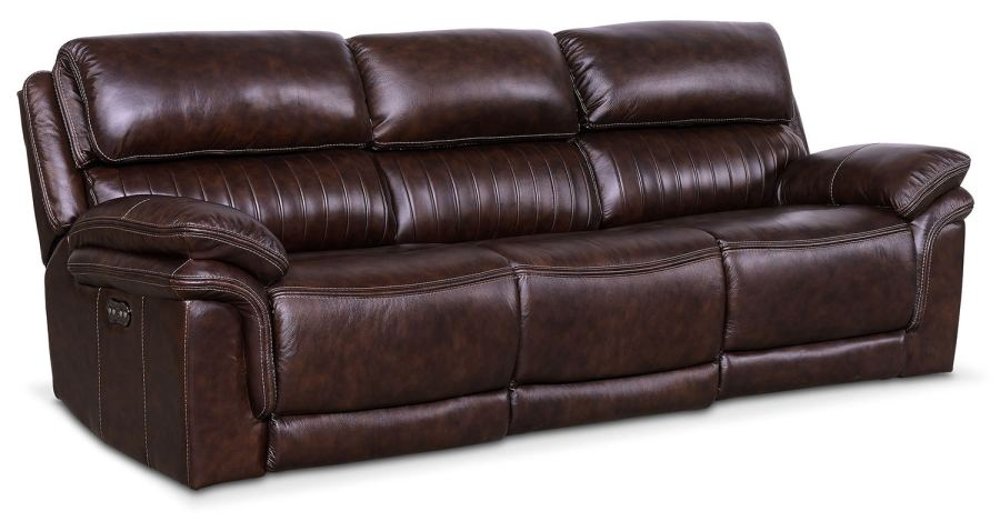 Monterey 3 Piece Power Reclining Sofa   Chocolate   American     Living Room Furniture   Monterey 3 Piece Power Reclining Sofa   Chocolate