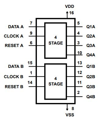 Arduino With Cd4015b Shift Register 3 Steps