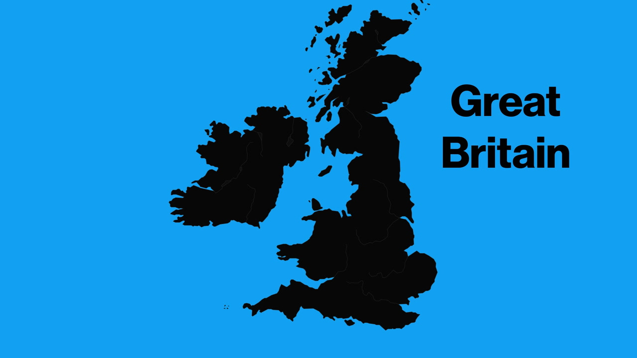 Difference Britain And Great Isles British Uk Between
