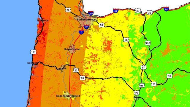 Earthquake Map Portland Oregon