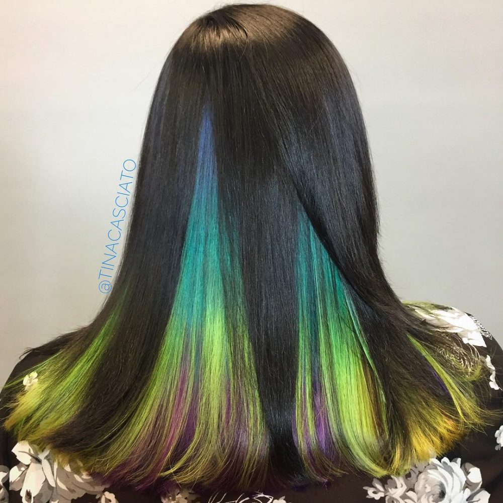 Colored Highlights Light Brown Hair
