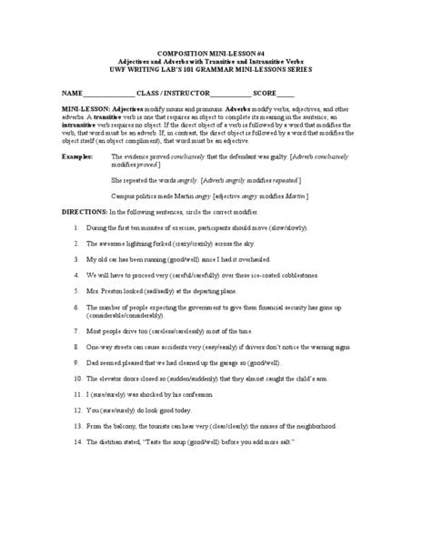 Transitive Verb Worksheet Kidz Activities