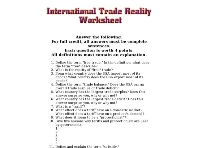 Reality Worksheets Therapy