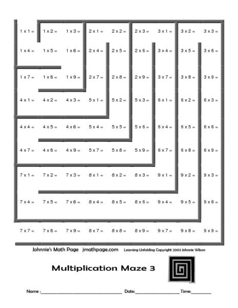 Multiplying Polynomials Maze Answer Worksheet Level 3