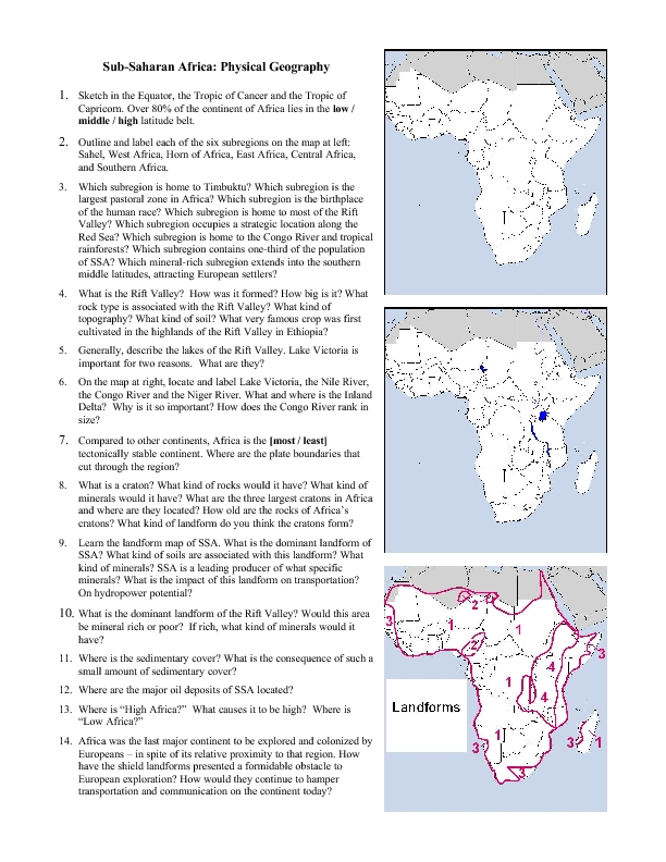Printable Map United States Lesson