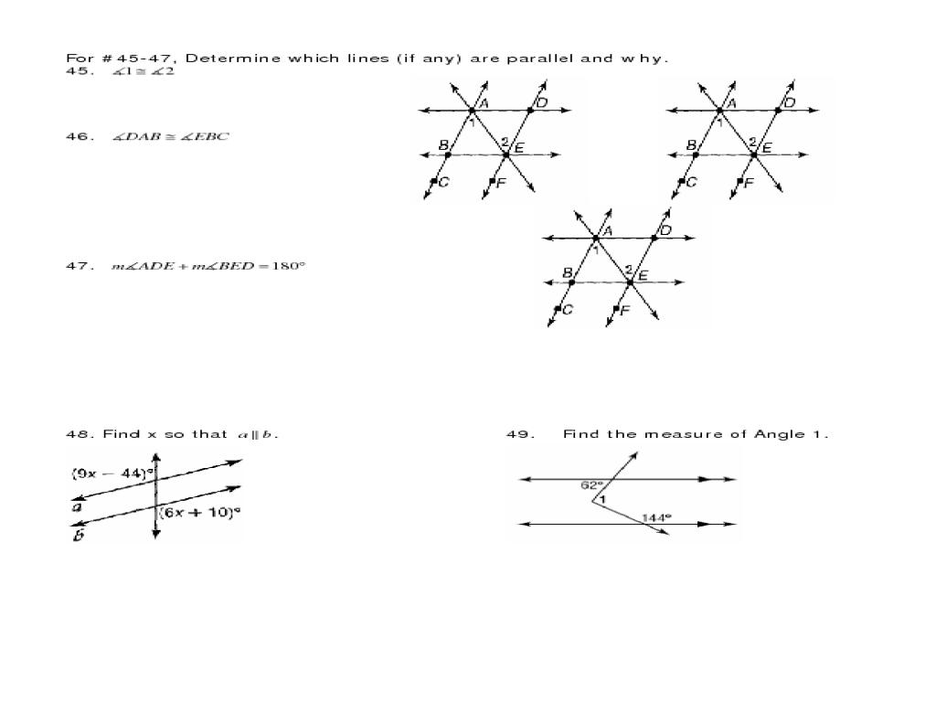 Semester 1 Review Geometry F L W Ksheet 10th Gr De