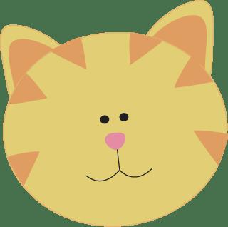 Yellow Cat Face Clip Art - Yellow Cat Face Image