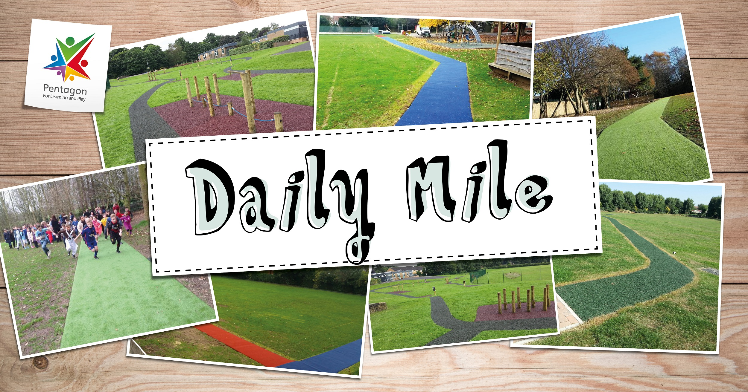 Daily Mile Tracks For Schools | Pentagon Play