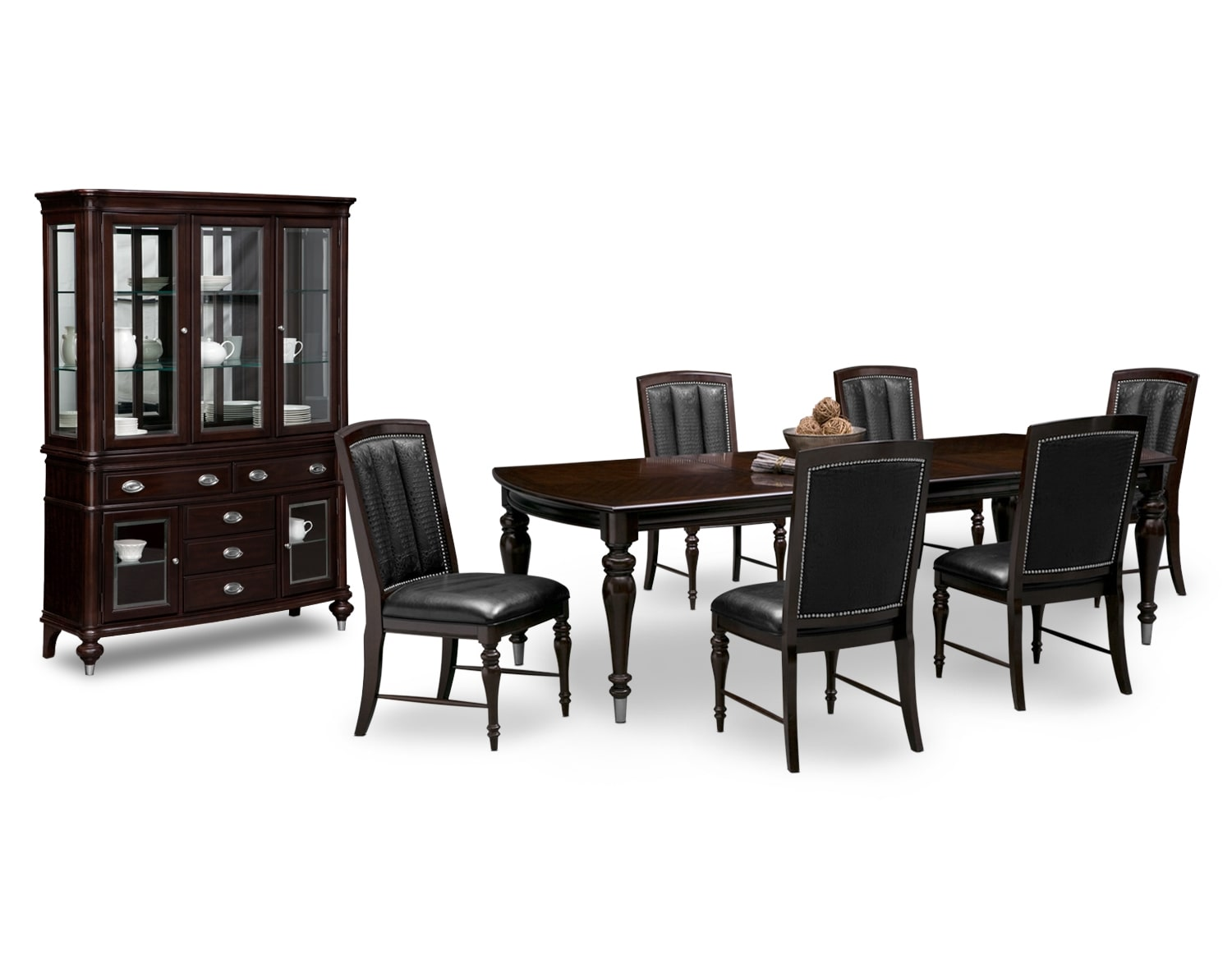 Shop Dining Room Collections   Value City Furniture and Mattresses The Esquire Collection   Cherry
