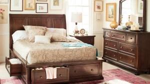 Hanover 5 Piece Queen Storage Bedroom Cherry Value