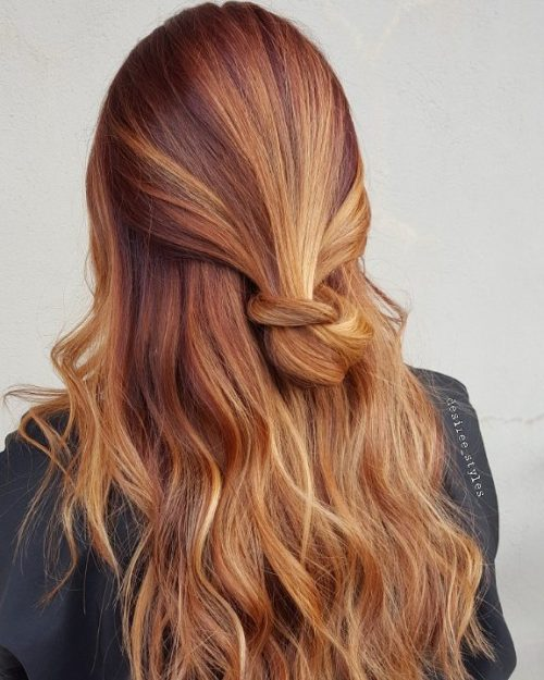 20 Hottest Red Hair with Blonde Highlights for 2019