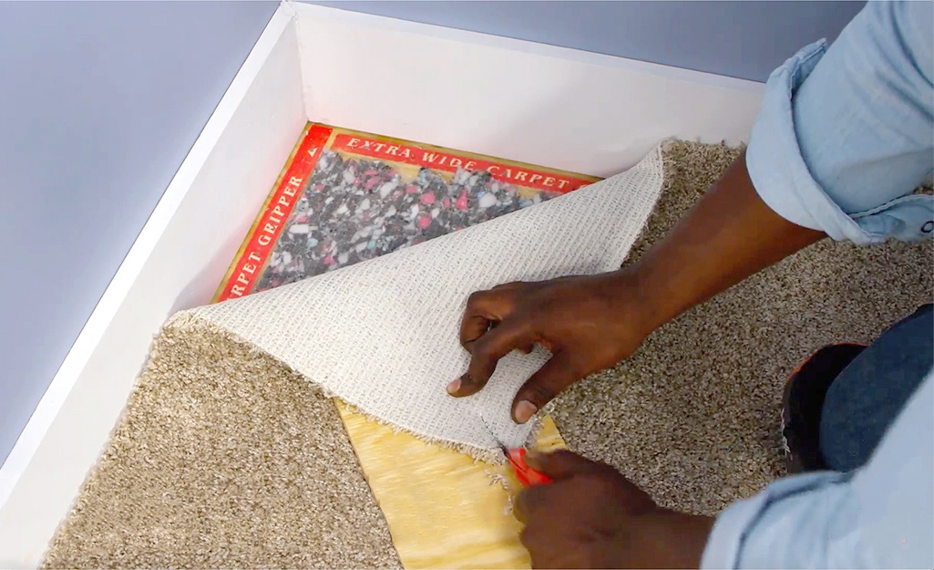 How To Install Carpet The Home Depot | Carpet Strips For Steps | Border | Carpeted | Adhesive | Builder Grade | Victorian