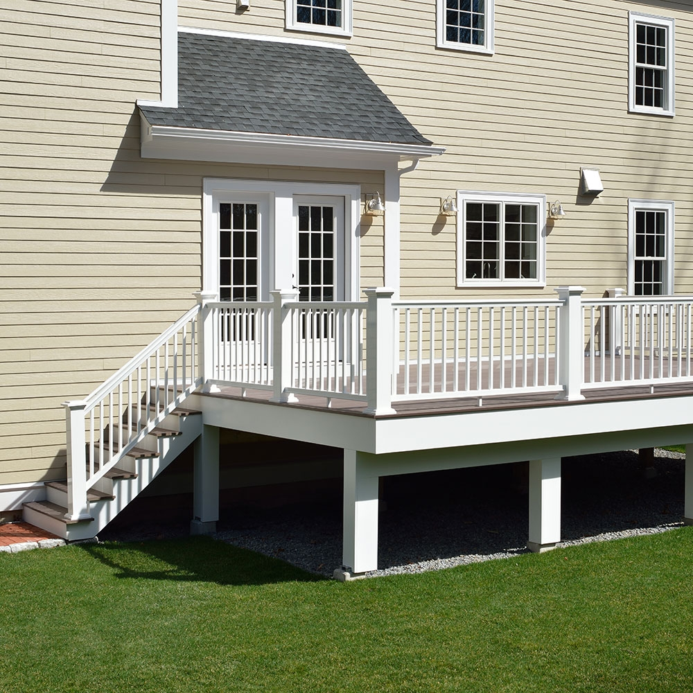 How To Replace A Deck Stair Railing The Home Depot | Diy Handrails For Outdoor Stairs | Wood | Front Porch Railing Ideas | Porch | Stair Stringers | Pipe