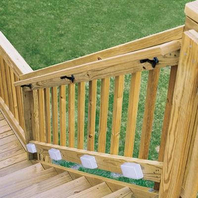 Deck Stair Railings Deck Railings The Home Depot | Handrails For Concrete Steps Home Depot | Aluminum Railing | Veranda | Tuffbilt | Precast Concrete | Baluster