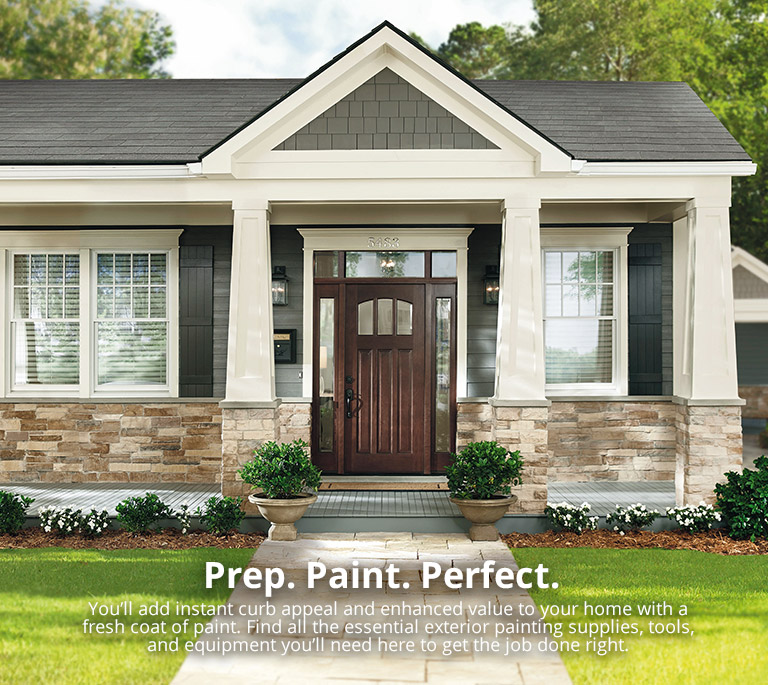 Exterior Paint Color and Trim at The Home Depot Completing the Exterior Paint Project