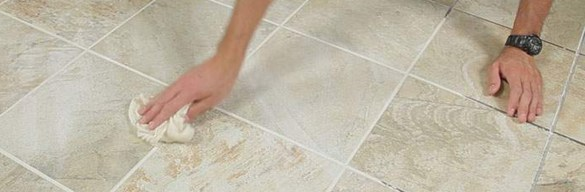 How to Grout Tile Floors at The Home Depot how to grout tile step 5