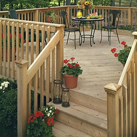 Decking Deck Building Materials The Home Depot | Home Depot Deck Handrail | Stairs | Face Mount | Aluminum Balusters | Cable Railing Kit | Southern Yellow Pine