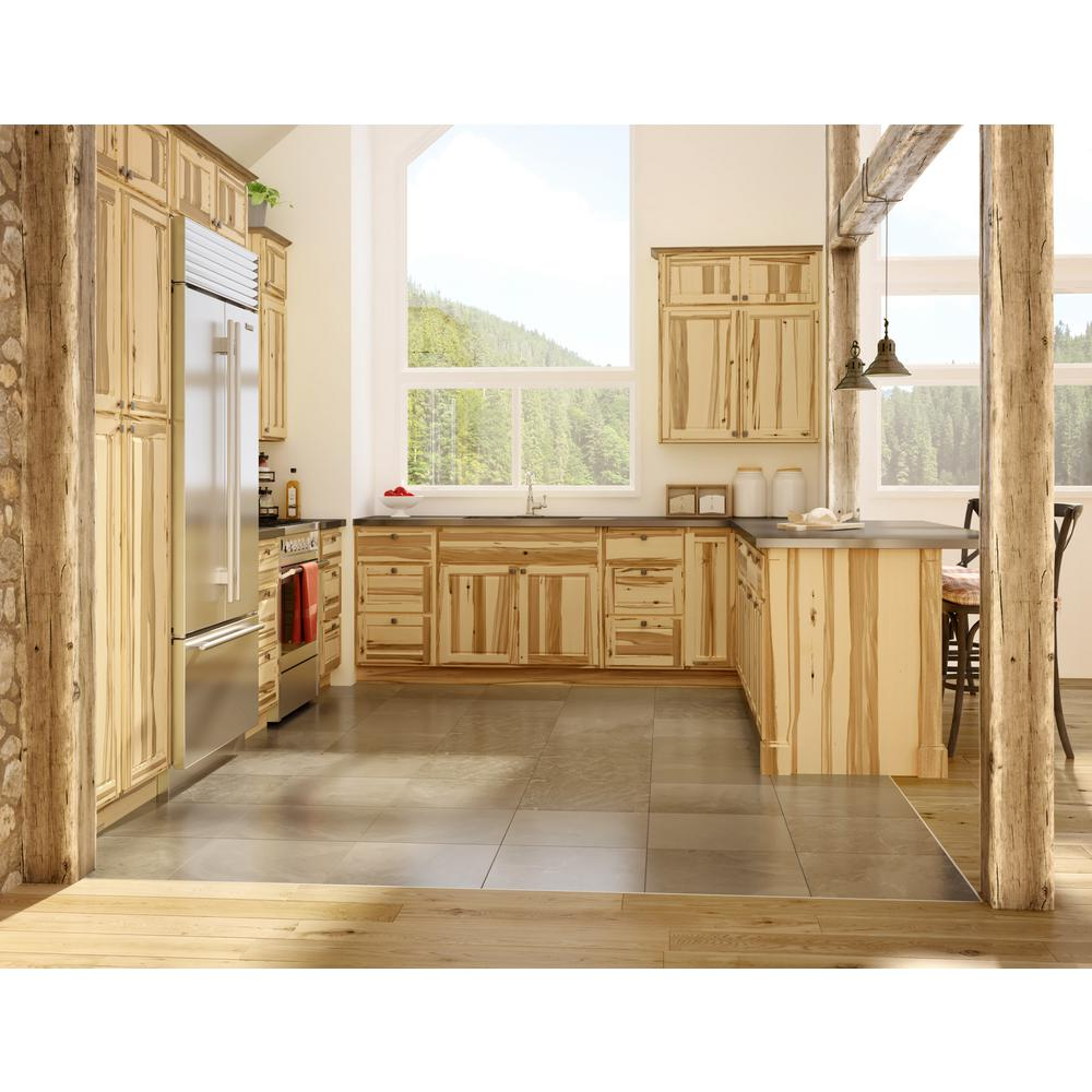 Madison Pantry Cabinets In Hickory Kitchen The Home Depot