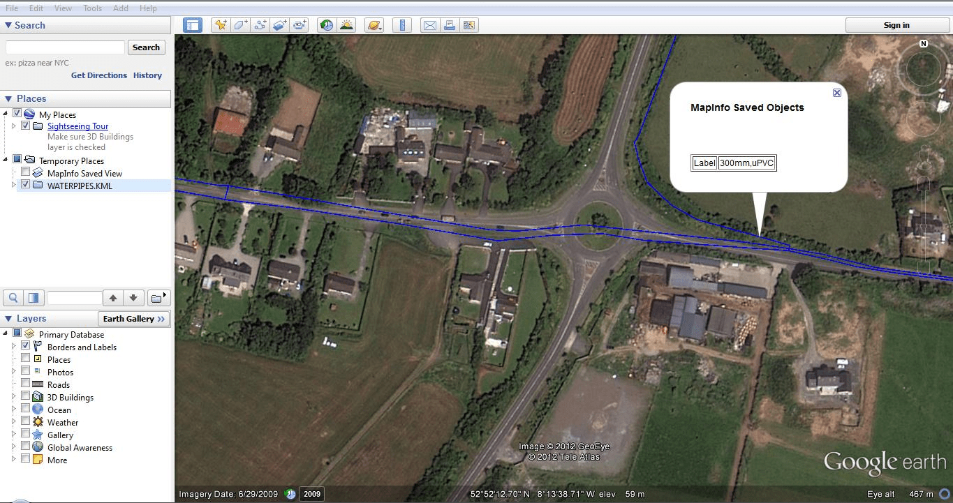 Export Map to Google Earth