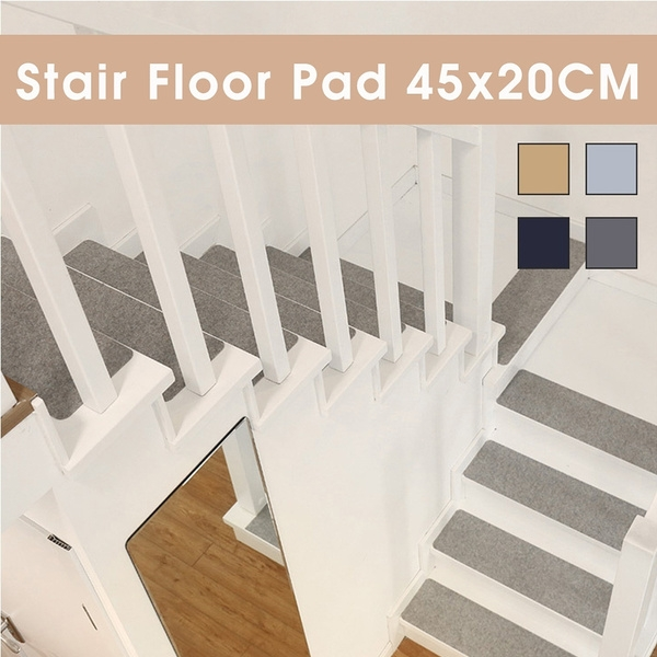7 14Pcs Diy Self Adhesive Anti Slip Stair Mat Step Carpet Floor | No Slip Strips For Carpeted Stairs | Stair Nosing | Traction | Non Slip Nosing | Slippery Stairs | Tread Nosing