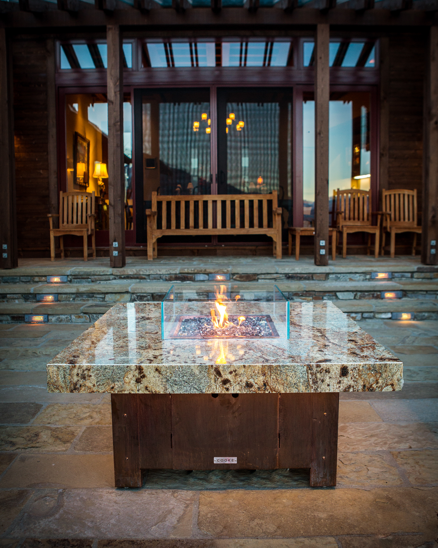 Balboa Stone Top Fire Pit Table Cooke Furniture