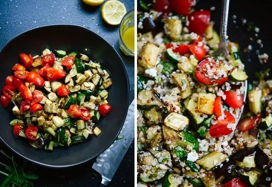 Mediterranean Quinoa Salad With Roasted Vegetables
