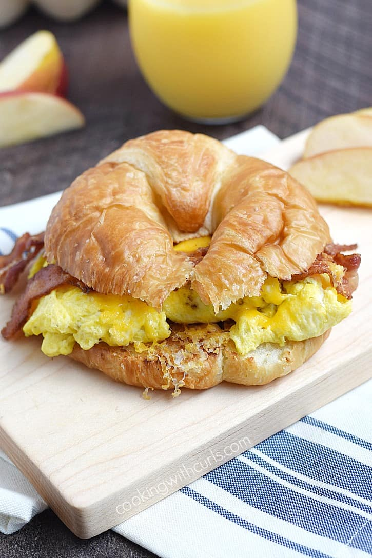 Egg And Cheese Plate Bacon Sandwich