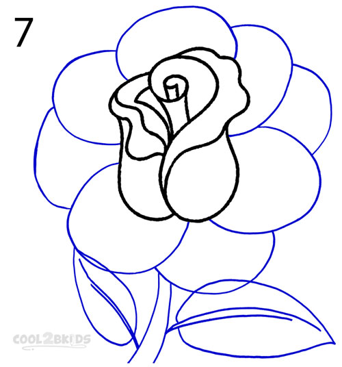 How To Draw a Realistic Rose (Step by Step Pictures ...