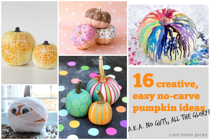 16 creative  easy no carve pumpkin decorating ideas  No guts  All glory  16 seriously creative no carve pumpkin decorating ideas for all of the fun   none