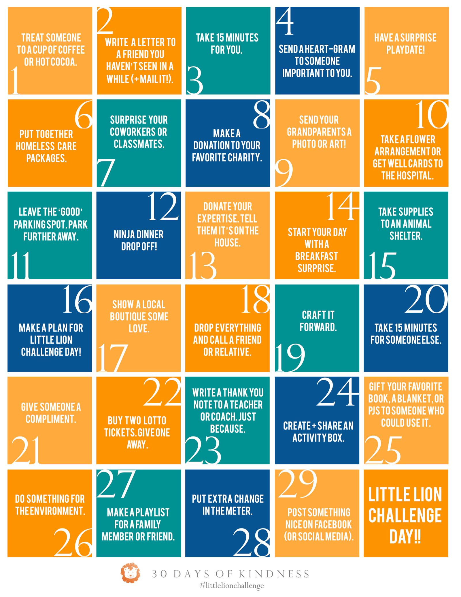 Printable Lent Calendar