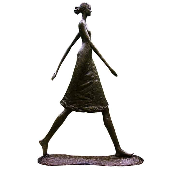Woman Walking Tall Corbin Bronze