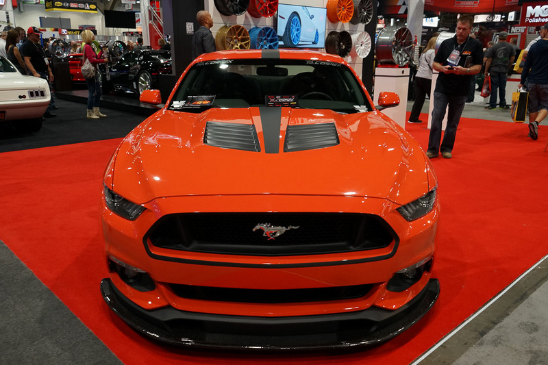 2015 Ford Mustang Tiger Racing Louvered Hood  Fiberglass 2015 Ford Mustang