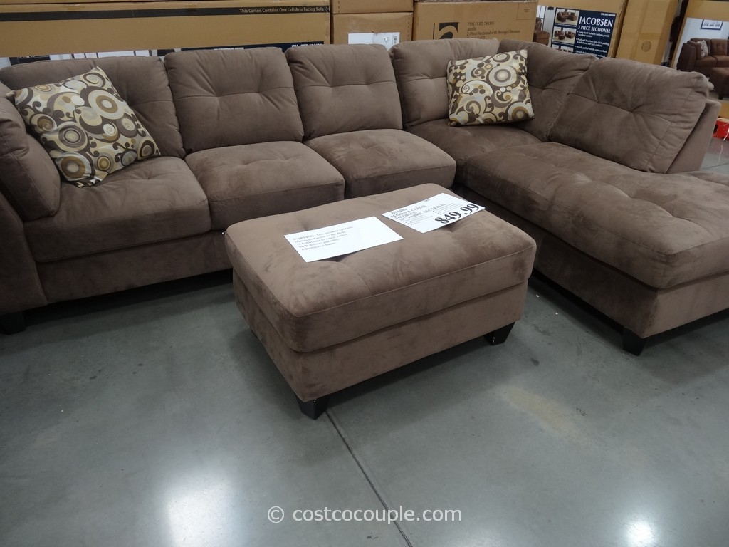 Recliner And Sectional Leather Chaise Brown