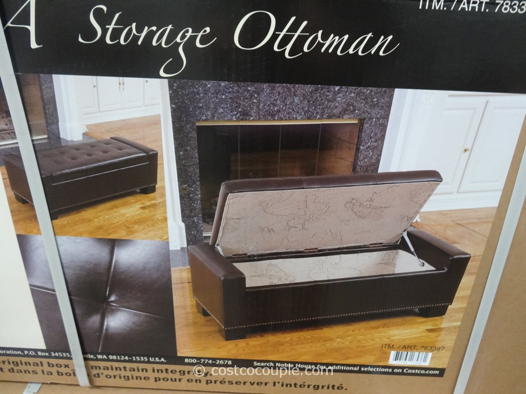 Brown Ottoman Storage Leather