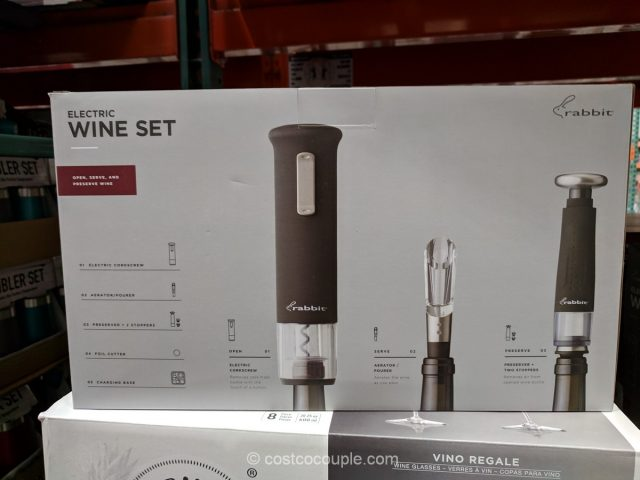 Rabbit Rechargeable Wine Opener Set