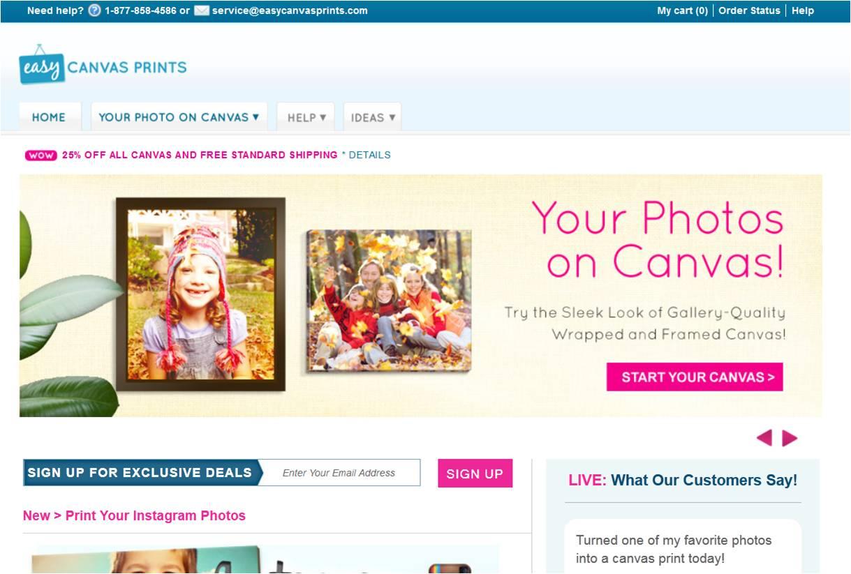 Easy Canvas Prints Promo Code | Coupon Code