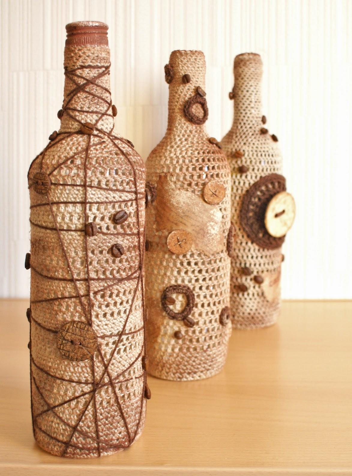 Hiasan botol untuk mengemas kini pedalaman