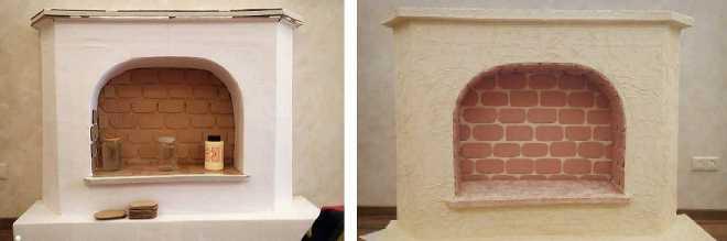 """Den dekorative pejs kan genoplives ved baggrundsbelysning eller """"flamme tunger"""""""