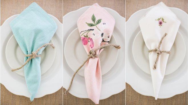 Декор салфетками свадебного стола