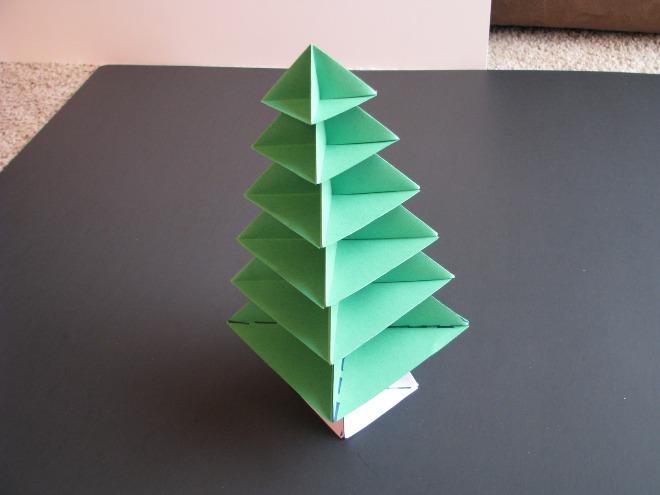 درخت کریسمس کاغذ